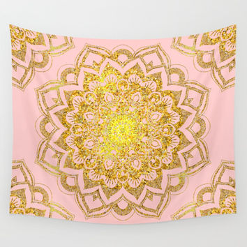 Golden Mandala i Wall Tapestry by cadinera
