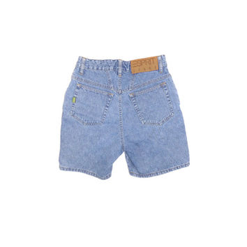 90s ESPRIT high waisted shorts / vintage 1990s / high waist rise jean short / womens size 7 - 8