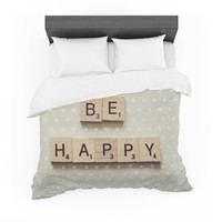 """Cristina Mitchell """"Be Happy"""" Featherweight Duvet Cover"""