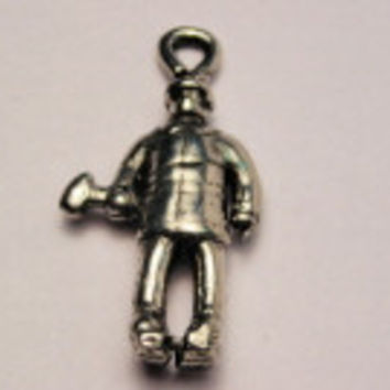 Fireman With Axe Genuine American Pewter Charm