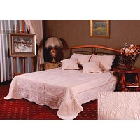 Tache 3-5 Piece Super Soft Coral Reef Bedspread Set in Cream