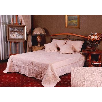 Tache 3-5 Piece Super Soft Coral Reef Bedspread Set in Cream (DXJ109013-3)