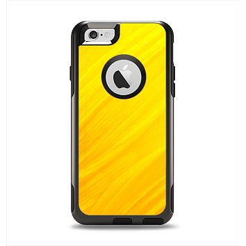 The Orange Abstract Wave Texture Apple iPhone 6 Otterbox Commuter Case Skin Set