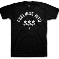 Jordan 4 Cement Feelings Into Dollar Signs Black T Shirt