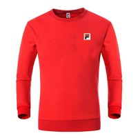 FILA trend casual breathable running sports round neck sweater Red