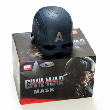 1:1 The Avengers Full Scale Captain America Steve Rogers Helmet Mask 1/1 Replica Custom Cosplay Prop RETAIL BOX WU625