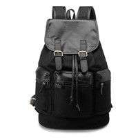 Backpack Korean Vintage England Style Men Bags Travel Bags [6542344963]