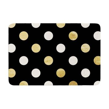 "KESS Original ""Golden Dots"" Memory Foam Bath Mat - Outlet Item"