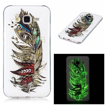 A3 A5 Luminous Case Ultra thin TPU Cover For Samsung Galaxy J3 J5 J7 Funda Embossed Glow Light Phone Case For Galaxy A3 A5 Capa