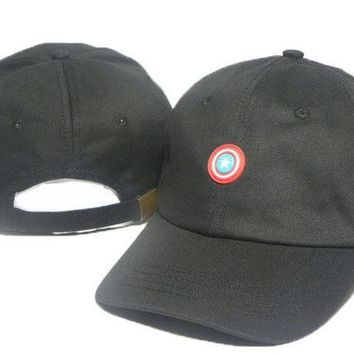 ONETOW Day-First? Black Captain America Embroidered Baseball Cap Hat