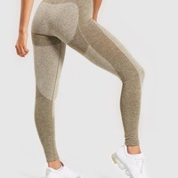 Gymshark Flex Leggings - Khaki/Sand