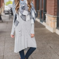 Lydia Duster Cardigan (Grey)