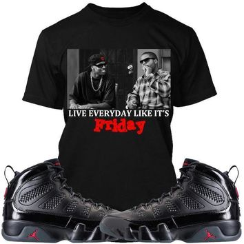 Jordan 9 Bred Sneaker Tees Shirt - FRIDAY