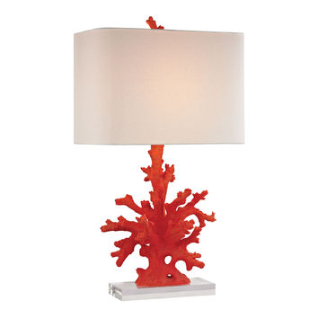 Red Coral Table Lamp in Red Red Coral
