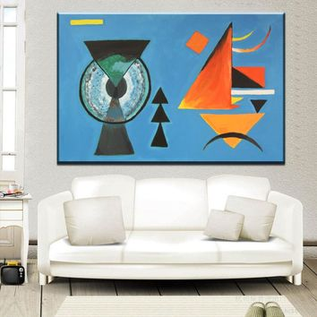 ZZ2094 Geometry Design Wassily Kandinsky Art Canvas Print Painting Poster, Wall Pictures For Living Room, Home Geometric Decor