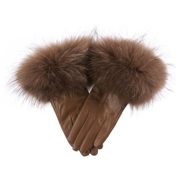 Leather Gloves Mocha