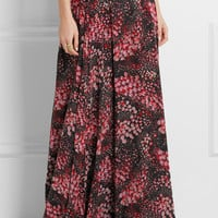 Giambattista Valli - Printed silk-georgette maxi skirt