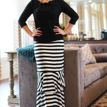 Sarah Striped Layered Skirt