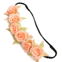 Braided Roses Headband