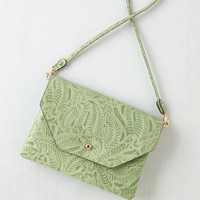 Boho Set out in Style Bag in Mint Vines by ModCloth