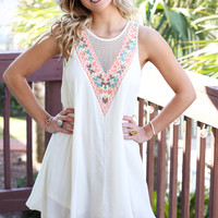 Cocoa Beach Natural Solid Sleeveless Dress