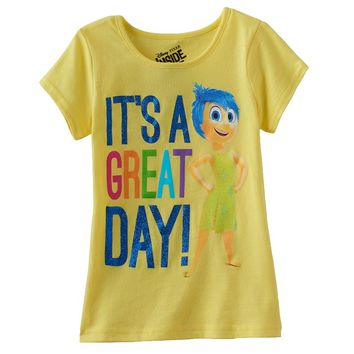 Disney / Pixar Inside Out Joy ''It's a Great Day'' Tee - Girls