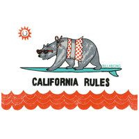 Billabong California Rules Sticker Multi One Size For Women 24682695701