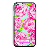 New Lilly Pulitzer Rose Pattern Print On Hard Case For iPhone 6s 6s plus