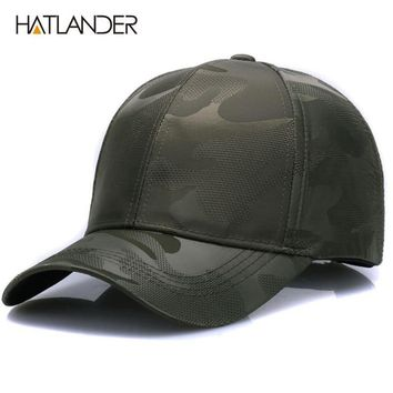 Trendy Winter Jacket [HATLANDER]Lightweight Breathable solid baseball caps outdoor sports hats polo gorras curved Airy mesh sun hat for men women AT_92_12
