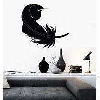Wall Sticker Vinyl Decal Feather Bird Beautiful Living Room Decor Unique Gift (ig999)