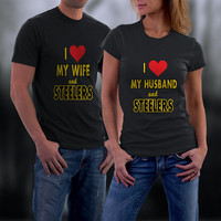 Steelers, Steelers Couples Shirts, Matching Couple Shirts. Him and Her Tshirt