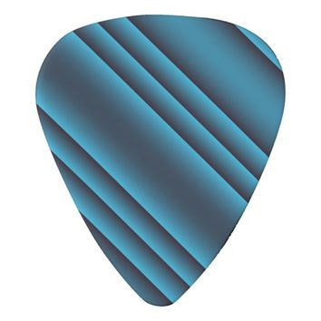 Black and Teal Stripes Guitar Pick