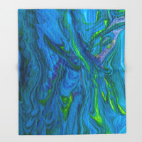 Oceans of Color Throw Blanket by Scott Hervieux