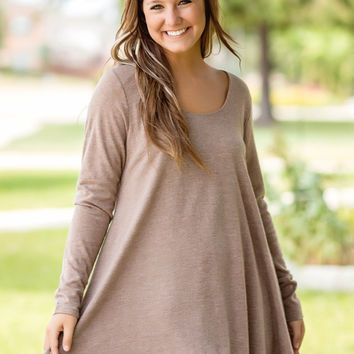 Icing On The Cake Tunic-Mocha