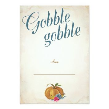 Thanksgiving Diner Table Place Cards