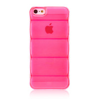 Pink Bamboo Joint Transparent Protective Case for iPhone 5 & 5S