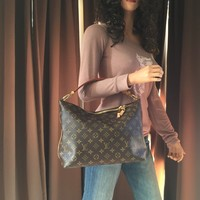 Authentic Louis Vuitton Monogram Sully PM Hobo Shoulder Bag
