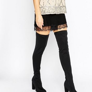 Missguided Over The Knee Boot at asos.com