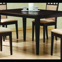 Coaster Cappuccino Rectangular Dining Table