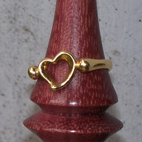 Vintage Tiffany & Co. Elsa Peretti Yellow Gold Open Heart Ring