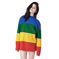 Long Sweater Women VS Love Pink Pullover Jumper Dress Winter Fall Rainbow Turtleneck Ladies Teen Girls Oversized Plus size