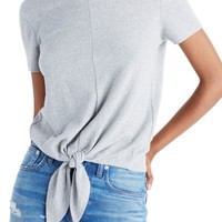 Madewell Modern Tie Front Tee | Nordstrom