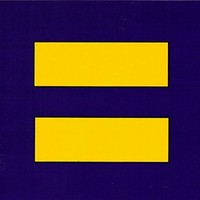 "Equality Symbol - Equal Rights - Small Bumper Sticker / Decal (3"" X 2.75"")"
