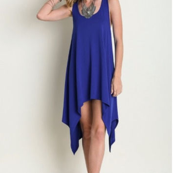 Cobalt Blue Tatum Tank Dress