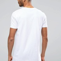 ASOS | ASOS 2 Pack Super Longline T-Shirt With Crew Neck SAVE 15% In Black/White at ASOS