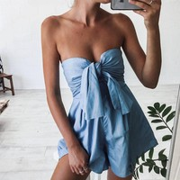 Casual Pants Summer Sexy Bra Hot Sale Jumpsuit [11817248079]