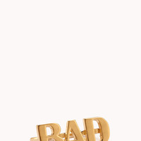 Statement-Making Bad Two-Finger Ring