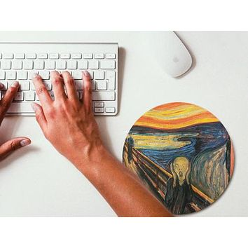 Munch Art Painting Mouse Pad Mouse Mat Design