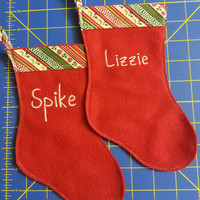 Personalized Christmas Stockings for your Bearded Dragon!