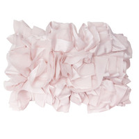 Soft Pink Ruffled Pillow